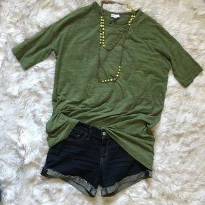 XS Green Tunic Top, LuLaRoe Irma